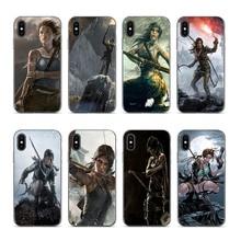 Lara Croft Tomb Raider Silicon Printing Case capa for Apple iPhone 6 6plus 6s 7 8 7plus 8plus xr xs xsmax цена