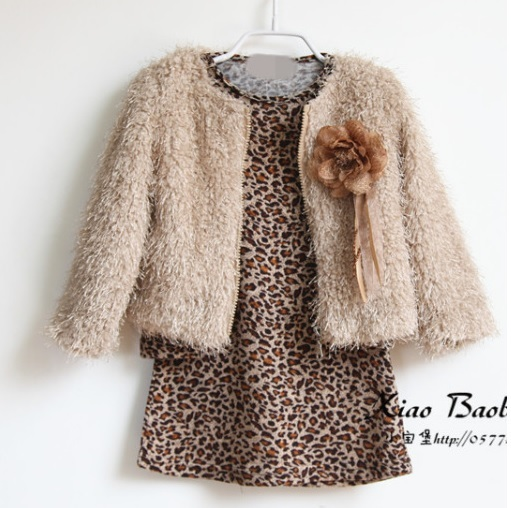 aeb75b531 cute little toddler girl fall clothes sets 2015 kids leopard long ...