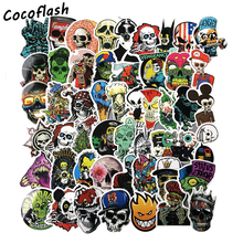 50PCS Mixed Horror Skull Stickers for Laptop Motorcycle Car Styling Luggage Phone Accessories Vinyl Decals DIY Terror Sticker