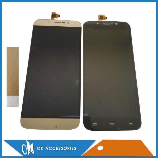 Noir Or Couleur Pour DEXP Ixion ES255 Feu Version WSC05521 LCD Display + Écran Tactile Digitizer Assemblée Avec Bande 1 pc/lot