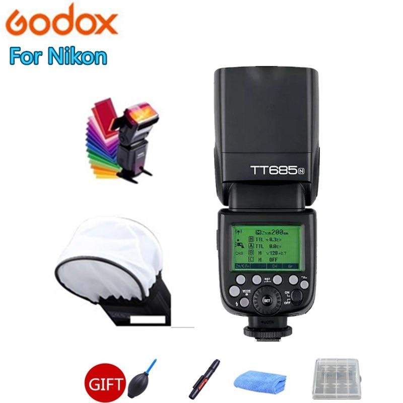 Godox TT685N 2.4G sans fil HSS 1/8000 s i-ttl GN60 Flash Speedlite pour Nikon pour D800 D700 D7100 D7000 D5200 D5000 D810 + cadeau