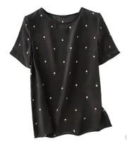 2018 new summer wear, fashion beetle printing, short sleeved top coat silk silk T shirt M to XL