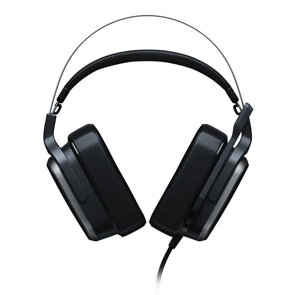 Oryginalny Razer Tiamat 7.1 V2 analogowy cyfrowego dźwięku przestrzennego zestaw słuchawkowy do gier z mikrofonem 50mm niestandardowe Tuned sterowników słuchawki