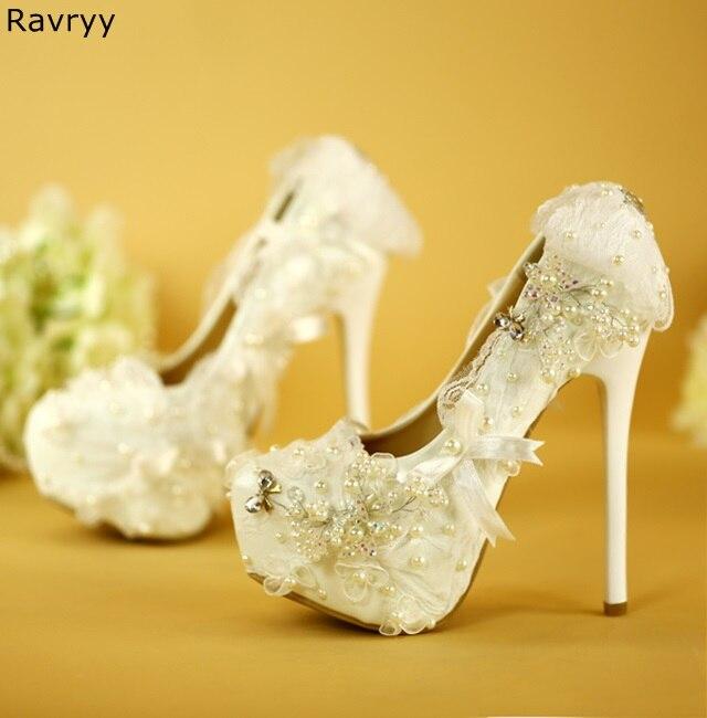Mariage Sexy Plate Picture Blanc À Partie De as Décor Bling Hauts Femme Aiguilles Picture Perle Talons forme Pompes Feamle Chaussures Cristal As Robe wq675