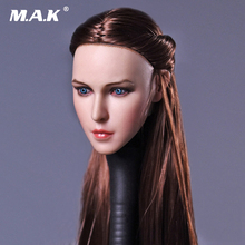 1/6 Scale Womens Head Sculpt Brown Long Hair D009 for 12 Inches Womens Bodies Action Figures Toys 1 6 scale kt005 female head sculpt long hair model toys for 12 inches women bodies figures