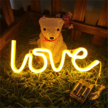 LYFS LED Night Light Love Neon Battery Power Christmas Valentines Day Gift Home Decoration Lights