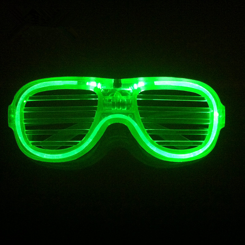 4ccf938a986 Christmas LED Toy 10pcs Event Party Masks Supplies Led Glowing Shutter  Glasses Red Green Blue Light Up Toys Flashing Glasses -in Glow-in-the-Dark  Toys from ...