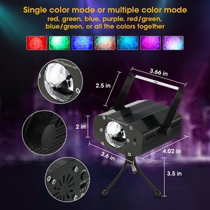 Image 4 - Grnflash led projetor de 7 cores, luz de palco, efeito de água, lâmpada laser, auto flash, led, ativado por som, para discoteca, dj, festa, palco luzes para iluminação