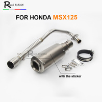 Full Exhaust System For MSX 125 Motorcycle Exhaust Muffler KAJIMAOYI With DB Killer Connect Pipe For HONDA MSX125 Mid Link Pipe
