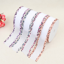 Embossed Ribbon Belt Classic Clothing Home Decoration Accessories Polyester Double-Sided Leopard Yarn With Craft Edge Banding