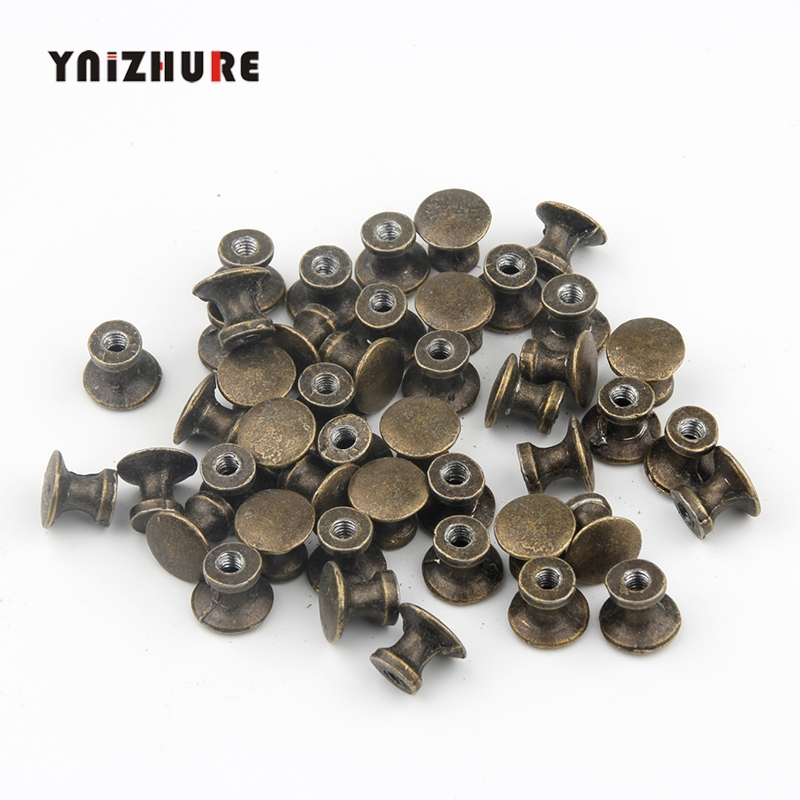 50pcs 12 * 11mm Special Offer Sale Furniture Handles Puxadores  Diameter Mini Hole Handle Small Drawer Antique Tiradores Puertas