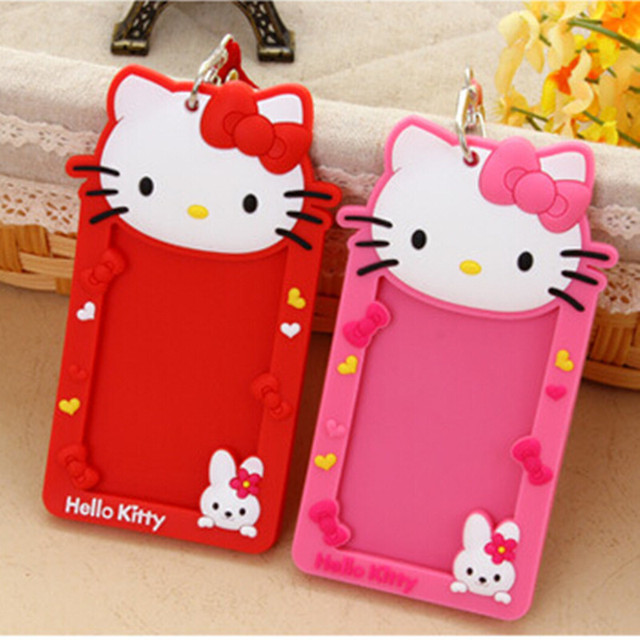 Cute hello kitty silicone name id holder case kids bus card sets cute hello kitty silicone name id holder case kids bus card sets business badge card holder reheart