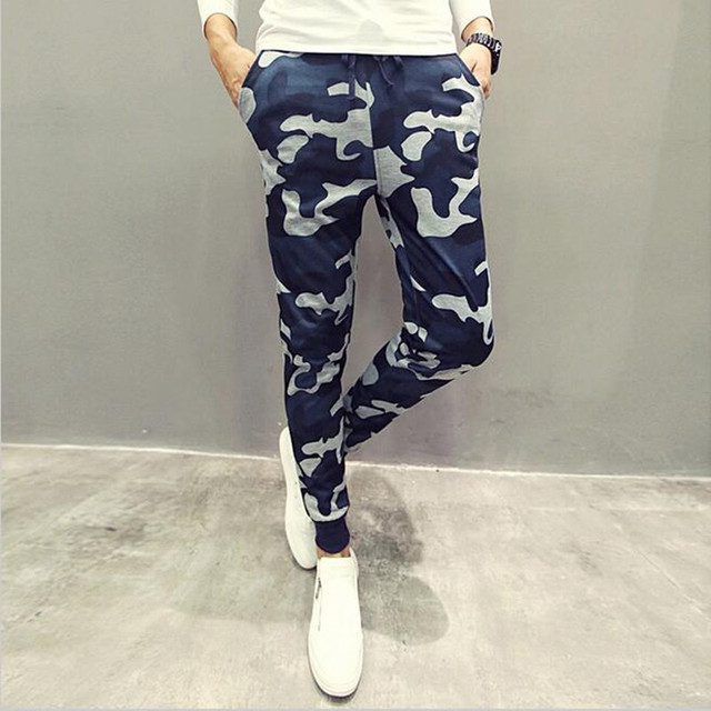 9eda849e72c Mens Joggers Casual Pants New Camouflage Slim Fit Army Camouflage Trousers  Men sweatpants Pants Hip Hop