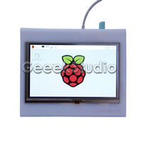 5 Inch 800x480 HDMI LCD Touch Screen With Acrylic Case For Raspberry Pi 3 2 B