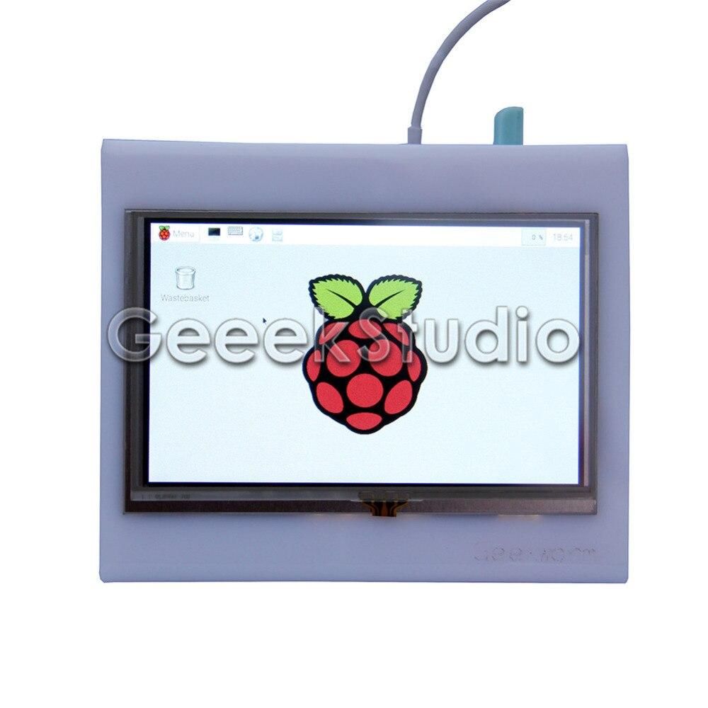 5 pouces 800x480 HDMI LCD écran tactile avec étui acrylique pour Raspberry Pi 3/2 modèle B