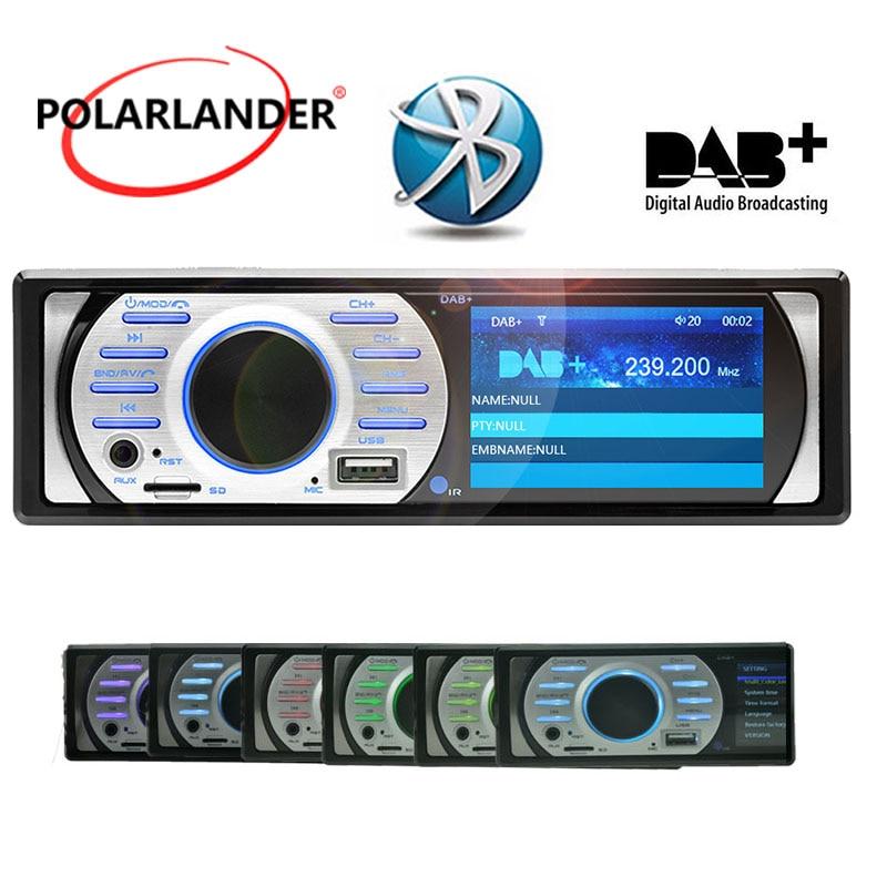 цена на Bluetooth ISO Contact FM Auto Audio Stereo 1Din Car Radio USB/TF/AUX in 12V MP5/WMA Prime 3.0