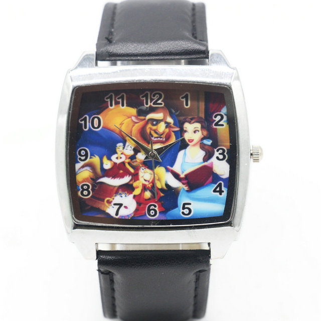 Cartoon Children Beauty and the Beast Watch Fashion Lovely Cute Kids Watches for