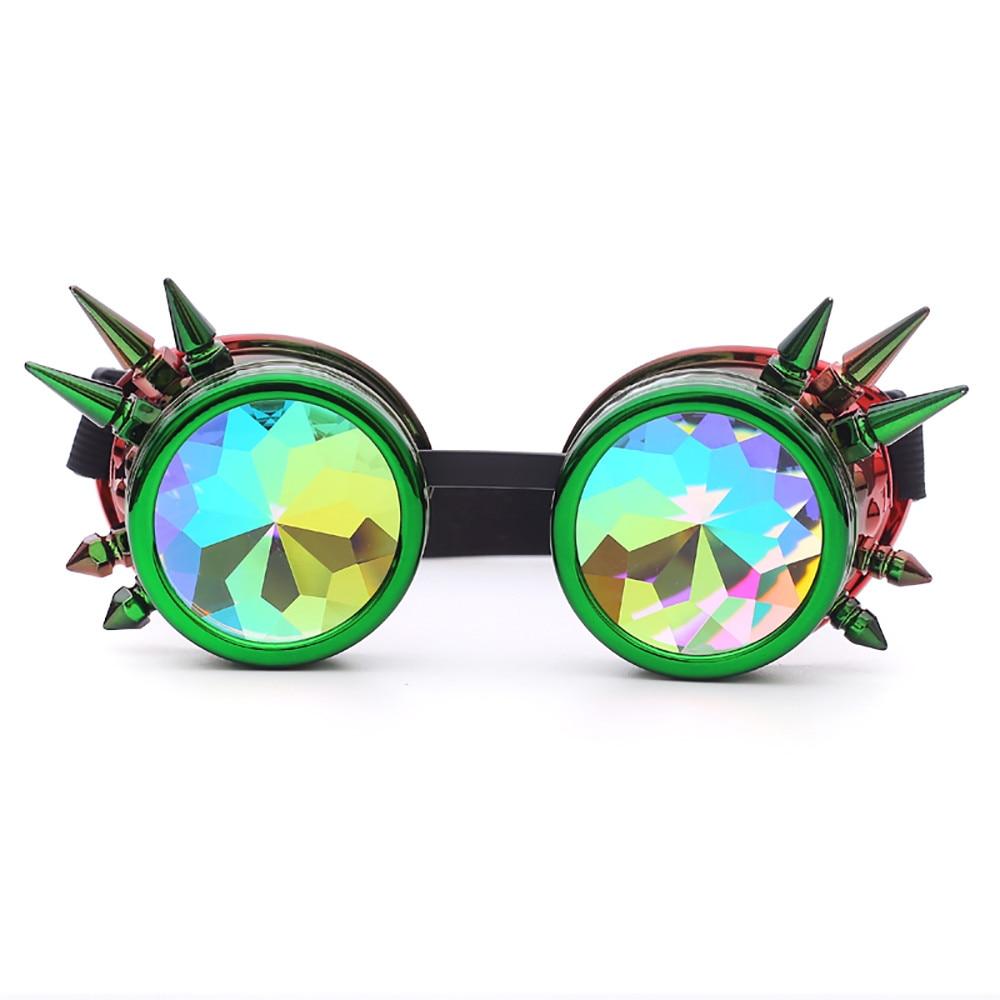 Kaleidoscope sunglasses halloween women spectacles female punk rave festival party eyeglasses ladies glasses uv glasses oculos