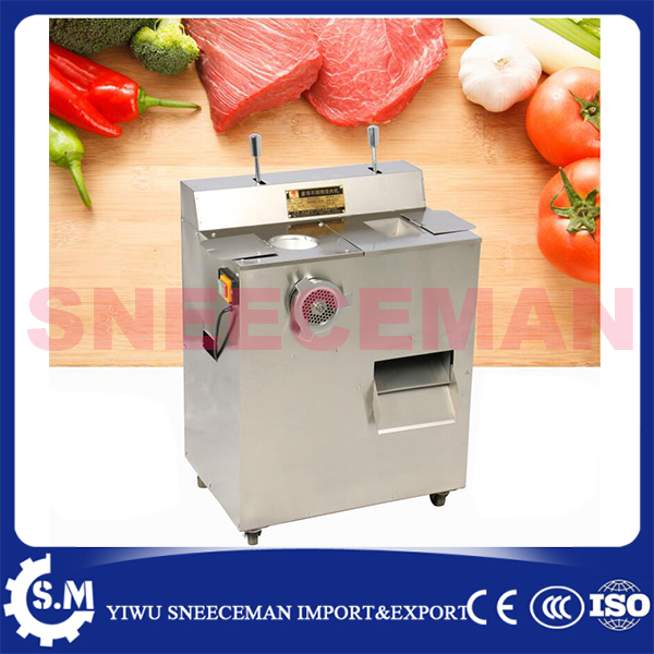 Stainless Steel multifunctional meat grinder commercial electric cutter cutting meat machine sliced meat shredded sausage maker stainless steel meat grinder 2 cutting plates electric moedor de carne 2 types sausage stuff makers kitchen appliance meat grind