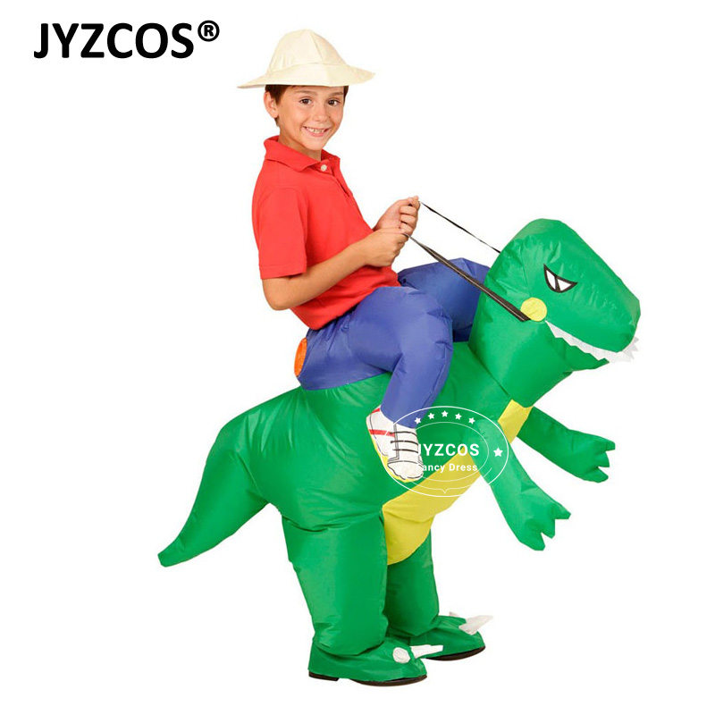 JYZCOS Uppblåsbara Dinosaur Kostymer för Kids Girls Boys Unicorn Cowboy Pikachu Pokemon T-Rex Fancy Dress Purim Halloween Cosplay