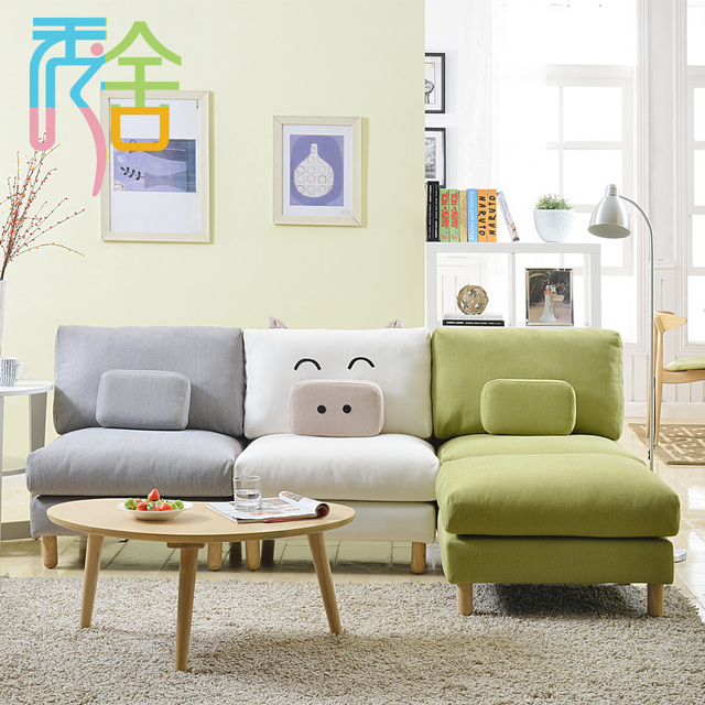 Show Homes Sofa Small Apartment Living Room Couch Creative Piggy Ikea Furniture Around The Corner Combination Of Single Person
