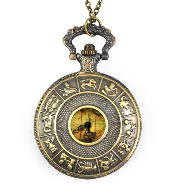 где купить YCYS Vintage Old World Australia Map Travelers Pocket Watch Necklace Gift on chain дешево
