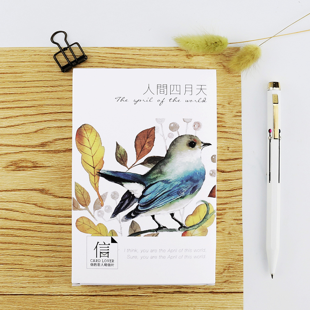 30 Pcs/lot Hand Drawing Birds Postcard Greeting Card Christmas Card Birthday Card Gift Cards Free Shipping 30 pcs lot novelty yard cat postcard cute animal heteromorphism greeting card christmas card birthday message card gift cards