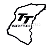 "New Stickers ""Isle Of Man TT"" Funny JDM DUB Car Rear Windshield Sticker For Truck Door Vinyl Decal 8 Colors"