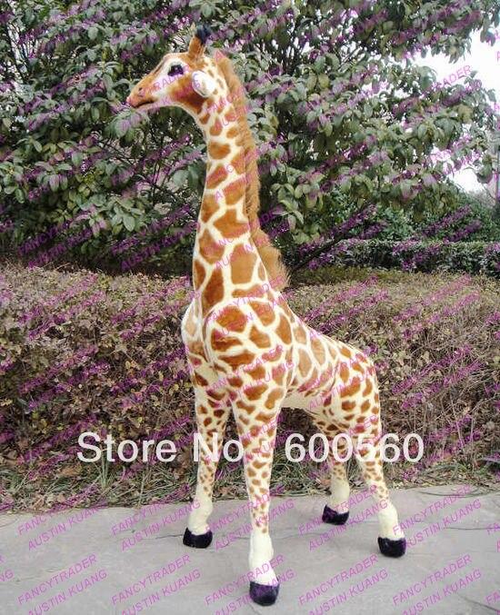 Fancytrader 2015 New Arrival 57 Giant Plush Stuffed Giraffe Cameleopard 145 cm tall FT90094