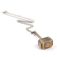 Thor Hammer Necklace Marvel Super Heroes Jewelry – Antique Bronze Plated – 50cm