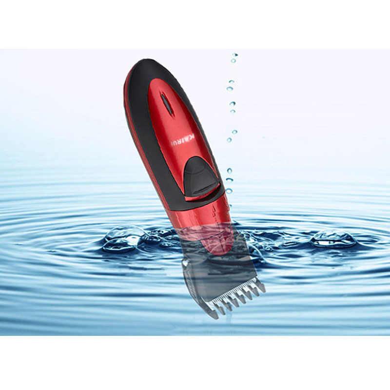 防水電気バリカンかみそり充電式の子ベビー男性シェーバー調節可能な切断機散髪