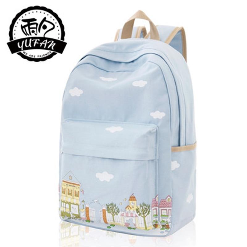 Newest Fresh Soft Canvas Polyester Preppy Style Women Backpack for Teenage Girls Bag Mochila Bts Mochila