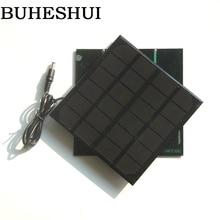 BUHESHUI 3W 6V Solar Panel Monocrystalline DIY Solar Cell Charger System For 3 7V Battery LED