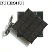 Buheshui 3 w 6 v 태양 전지 패널 monocrystalline diy 태양 전지 충전기 시스템 3.7 v 배터리 led 빛 + dc 5521 케이블 145*145mm
