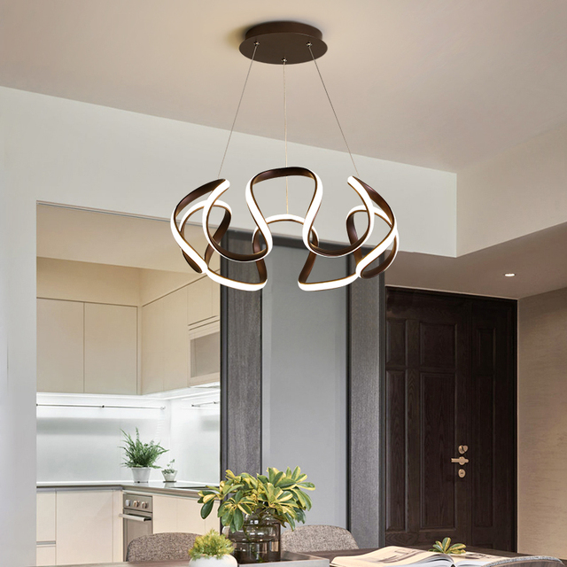 Simple modern led chandelier for living room dining room lamp Nordic style lighting creative personality bedroom Chandelier