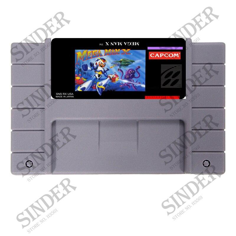 Megaman X USA Version 16 bit Grande Grigio Card Game Per NTSC/PAL Giocatore del Gioco