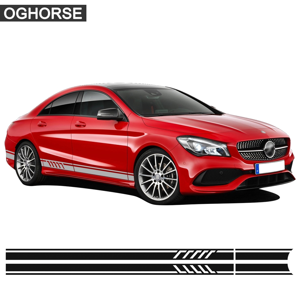 Edition 1 Racing Door Side Stripes փեշ Decal Sticker for Mercedes Benz CLA Class CLA45 CLA250 CLA200 CLA180 AMG W117 C117 X117