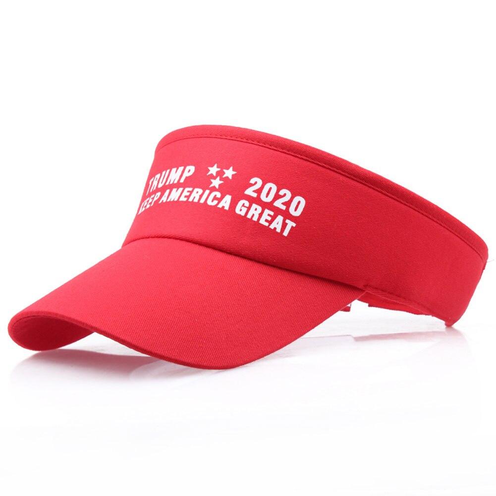New Trump Summer Golf Tennis Sun Hat Donald Empty Top Baseball Cap Men Women Outdoor Sports Visor Hat Sunscreen Tennis Cap 2019