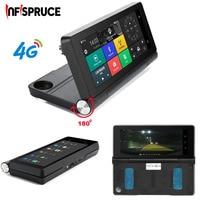 Infispruce Car DVR Mirror Dash Cam 7 4G Car GPS Dvr Camera Android 5 1 ROM16GB