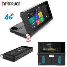 "Infispruce Видеорегистраторы для автомобилей зеркало регистраторы 7 ""4 г автомобиля GPS DVR Камера Android 5.1 ROM16GB RAM1GB видео Регистраторы"