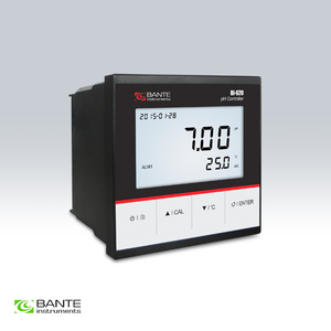 Marka BANTE online przemysłowe pH ORP sterownik monitora miernik RS-485 przekaźnik 4 ~ 20mA jakości wody wyjściowej badania DC24V mocy dostaw