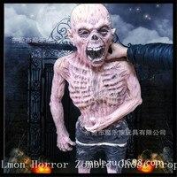 Бесплатная доставка ужасный головы зомби Хэллоуин украшения Опора ногами зомби глава призрак игрушка новизны для партии с привидениями