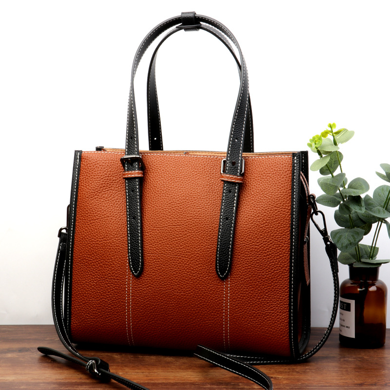 Genuine Leather Handbags Women Shoulder Bag Casual Fashion Designers Ladies Hand Bags Simple Style Crossbody Messenger Bags bucket bags women genuine leather handbags female new wave wild messenger bag casual simple fashion leather shoulder bags