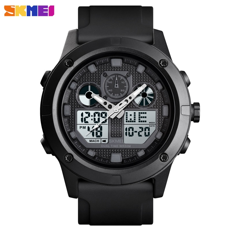 Luxury Men's Digital Watch Top Brand <font><b>SKMEI</b></font> Mens Watches Waterproof Chronograph Luminous Electronic Watch Bracelet Men Relogio image