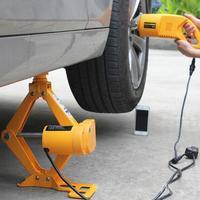 DHL электрический ножничный подъемник Jack Электрический автомобильный домкрат автомобиля электрический ключ инструмент для снятия шин авто