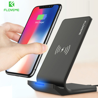 FLOVEME 10W Qi Wireless Charger For IPhone 8 X 8 Plus Fast Wireless Charger For Samsung