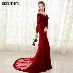 Vestido de festa longo sereia laço topo corpete linha fina longo vestidos de dama de honra transporte rápido encantador vestidos de festa de casamento novo
