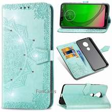 For Motorola Moto G7 Power US Version Case Moto G7 Power Case Flip Luxury Wallet PU Leather Cover Phone Case For Moto G 7 Power(China)