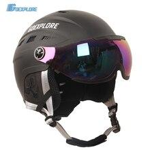 Goexplore ore лыжный шлем для взрослых и детей, уличный спортивный светильник, шлем с очками, маска для скейтборда, сноуборда, шлем для детей, снежное снаряжение