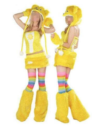 Unieke volwassen vrouwen halloween party animal cosplay kostuum geel ...